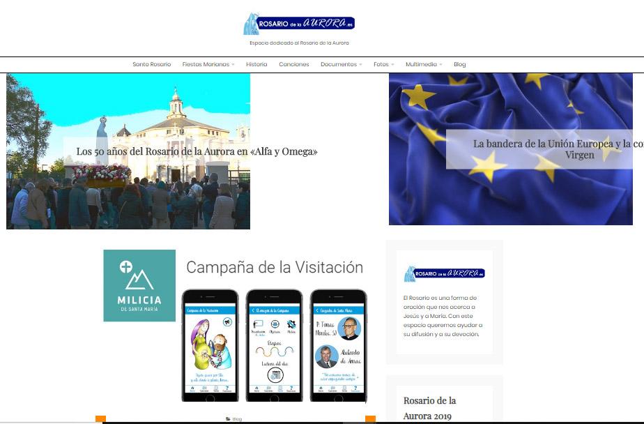 Presentación de la web sobre el rosario de la aurora